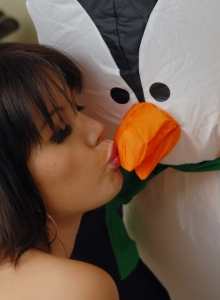 Super Cute Diddy Wishes Mr Pengiun A Merry Christmas As She Strips - Picture 12